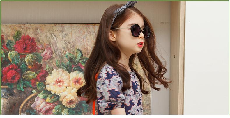 韩国kk树儿童太阳镜女童个性可爱宝宝眼镜小孩眼镜正品女童墨镜潮 ps