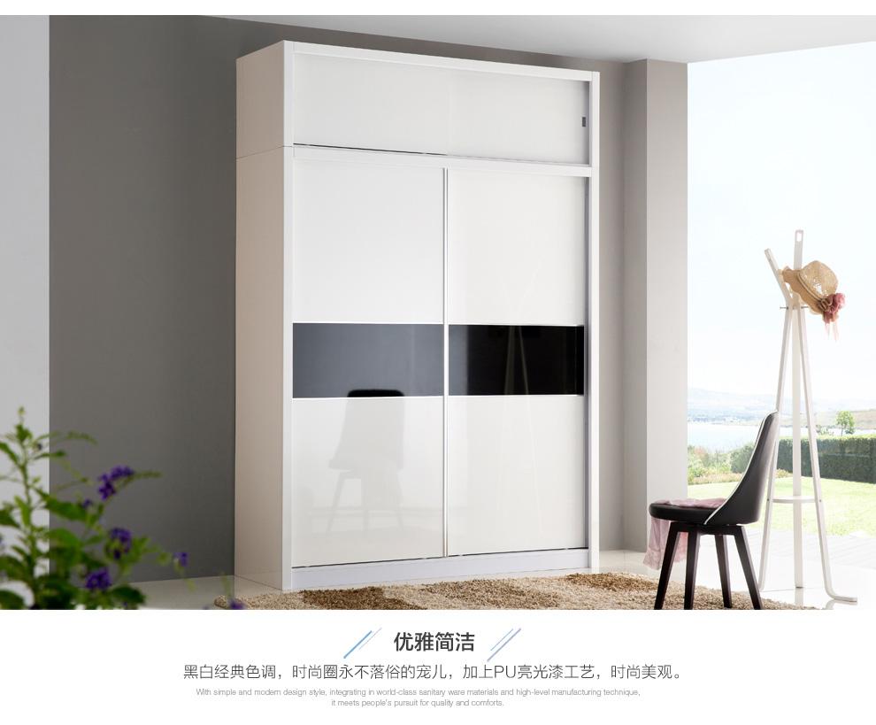烤漆推拉门衣柜白色烤漆衣柜图片11