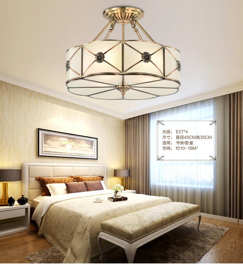 【全铜吊灯4件套餐】世源欧式铜灯套装美式客厅餐厅灯具灯饰吊灯 套餐图片