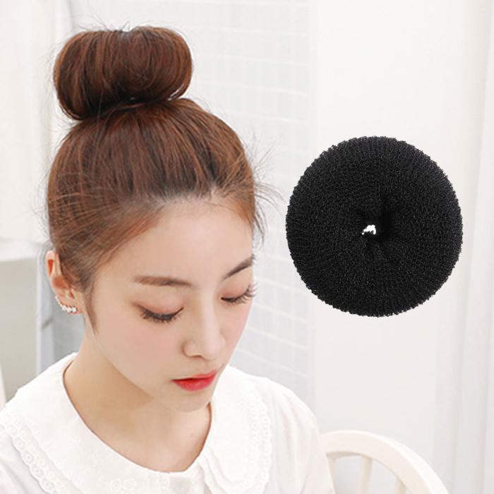 一对韩版发饰 甜甜圈bobo波波头盘发器 丸子头美发工具花苞头发圈 圆图片