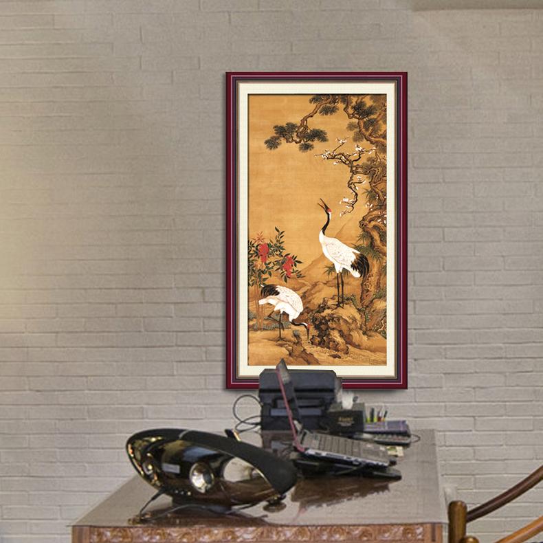 茶楼中式风格手绘图