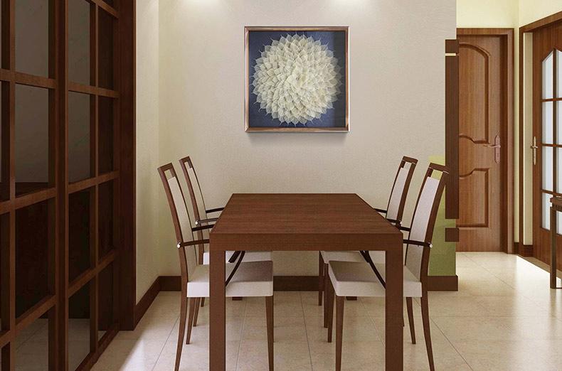 沙发背景墙玄关壁画现代简约新中式挂画客厅菩提装饰画 纳兰容若 蓝底