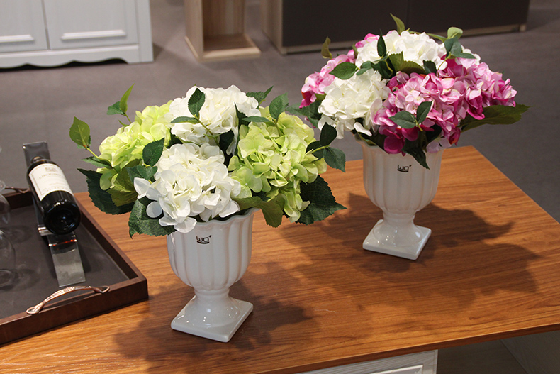 wo+高仿真花假花绣球花瓶插花家居饰品装饰客厅餐厅装饰花绢花人造花