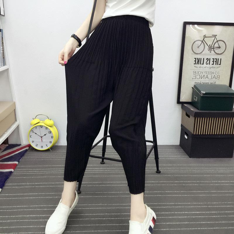 裤子女雪纺哈伦