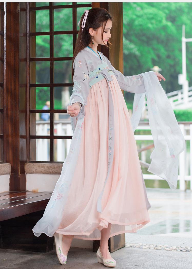 歌米莲古装汉服表演服饰配饰围巾披肩披帛 图色 均码图片