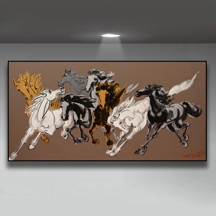 客厅装饰画油画抽象画简约现代手绘写意马原创高档酒店挂画热卖01