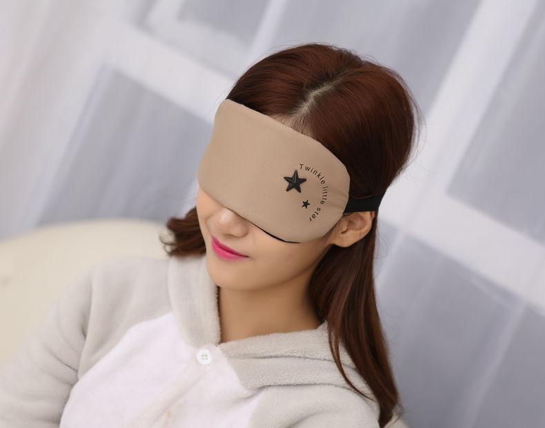 韩版可爱遮光眼罩睡眠睡觉男女卡通眼罩冰袋冰敷热敷护眼罩送耳塞 小