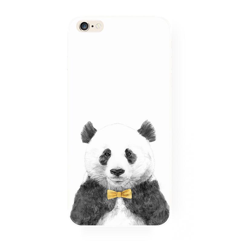 腾彩可爱卡通萌萌熊猫漫画苹果6s iphone6plus i6创意