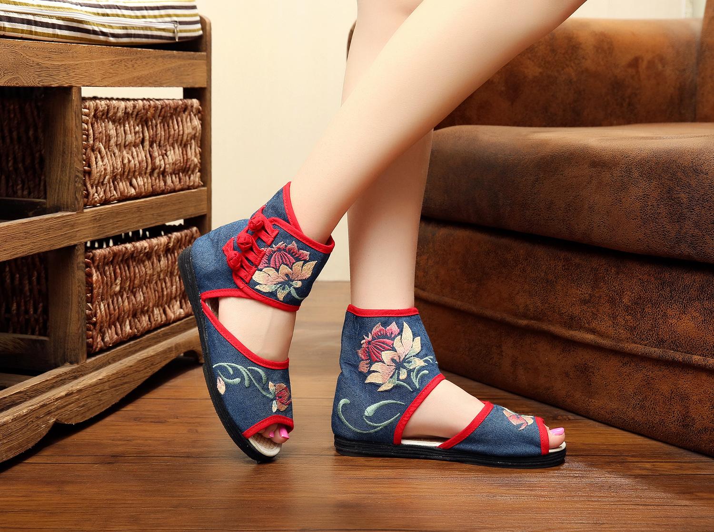 老北京布鞋女凉鞋