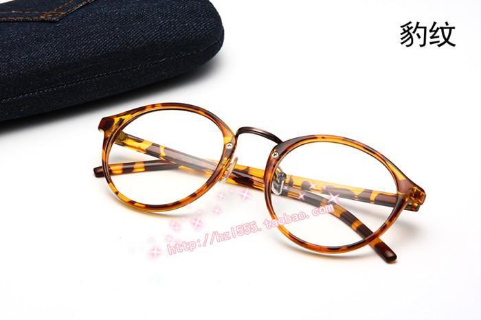 网红原宿林小宅圆框眼镜凹造型素颜复古眼镜框架平