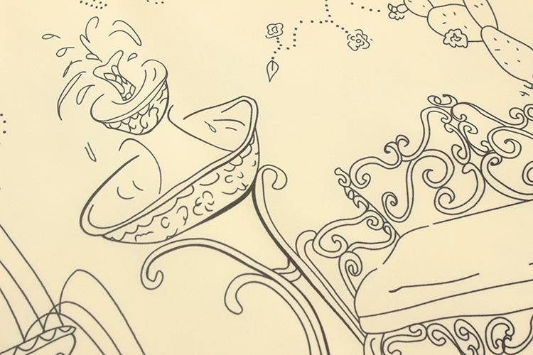 走秀造型手绘线稿
