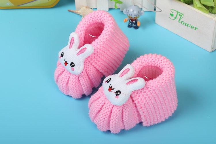 2016新款新生儿手工编织毛线鞋 婴儿鞋卡通棉毛线鞋子