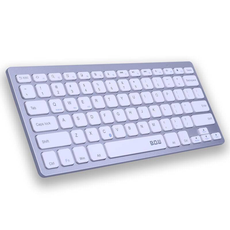 bow航世 hb098 巧克力按键 便携蓝牙键盘 银色图片