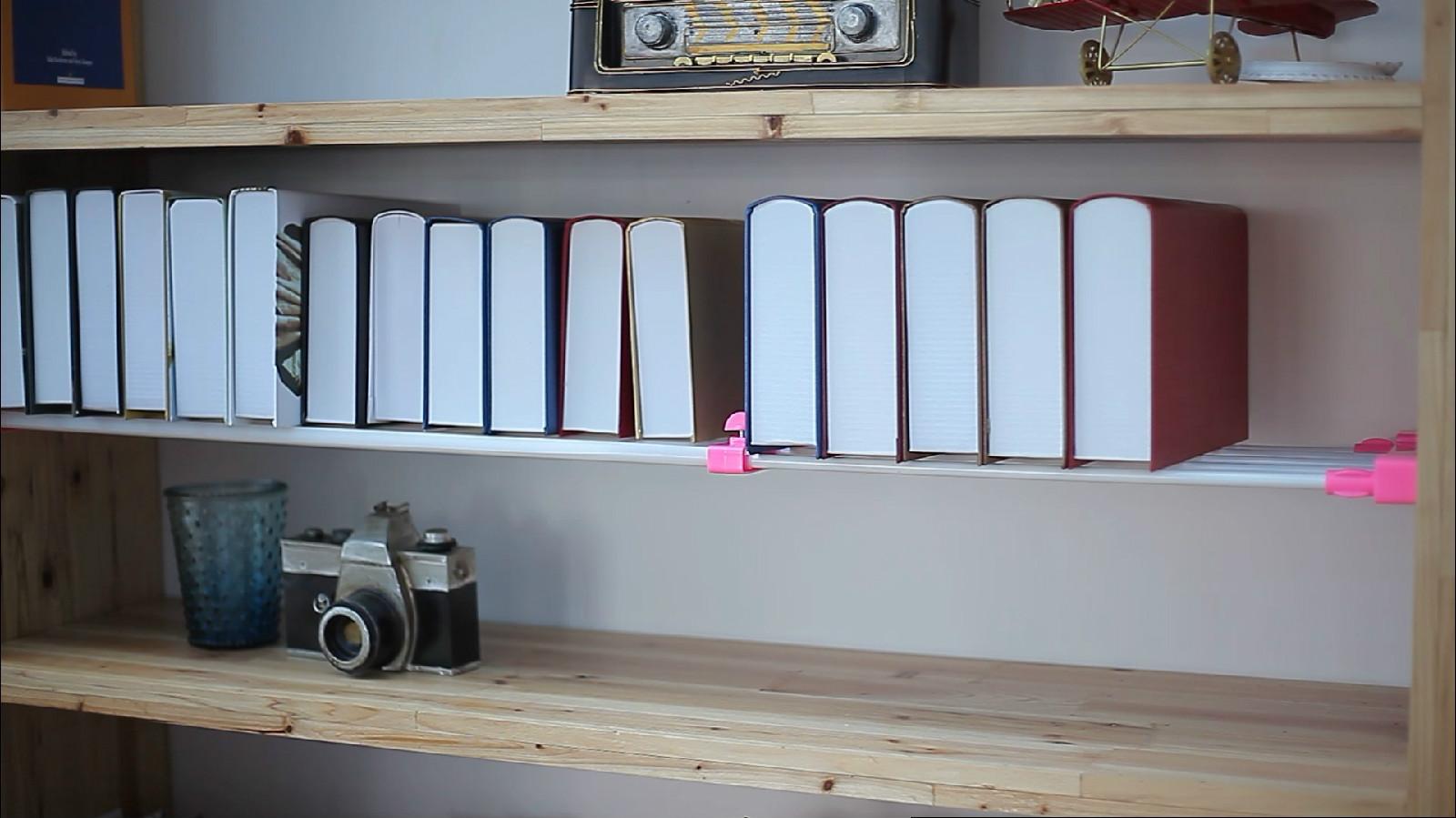 衣柜分层隔板橱柜鞋柜分隔储物架免钉伸缩收纳架隔板