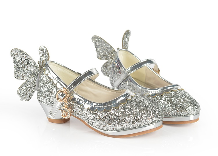 春秋女童皮鞋高跟鞋小学生女孩单鞋儿童公主演出鞋可爱蝴蝶结大码
