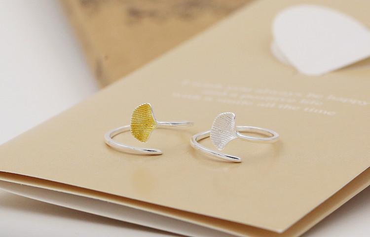礼品 创意礼品 腾彩(tengcai) 腾彩飘舞的银杏叶 s925银戒指 j1图片