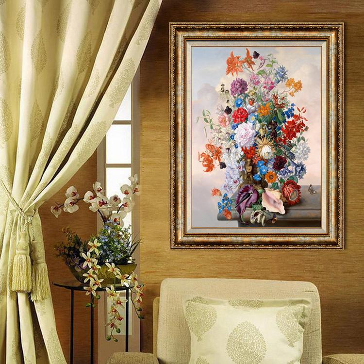 高档美式复古家居饰品现代装饰画 客厅餐厅挂画 玄关墙饰走廊壁画图片
