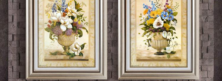 现代简约装饰画 欧式客厅挂画 美式田园餐厅壁画高端定制墙面饰品 a款图片