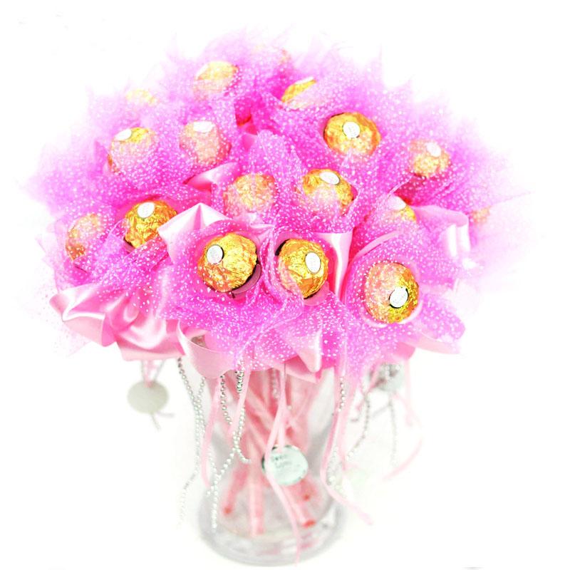 结婚用品喜糖盒子巧克力花束费列罗花托糖盒婚礼回礼婚庆礼物批发