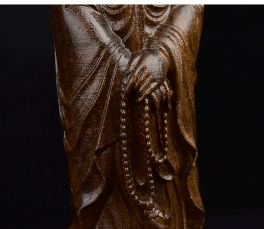 印尼沉香木雕 观音 雕件