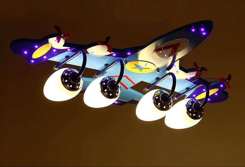 晶爵仕 现代卡通儿童房灯创意飞机灯男孩卧室灯宝宝房