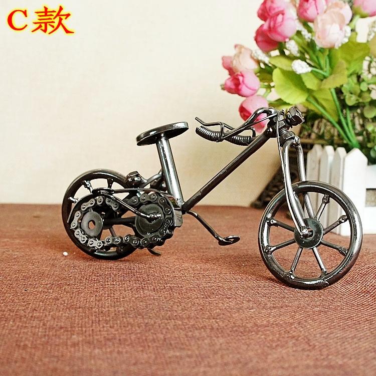 腾彩新款创意家居摆件铁艺复古自行车模型橱窗摆件送同学生日礼物 a款图片