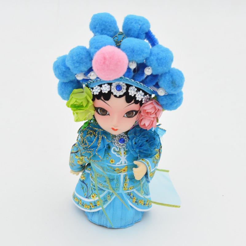 京剧脸谱摆件特色吉祥物绢人娃娃民间手工艺品 送外国图片