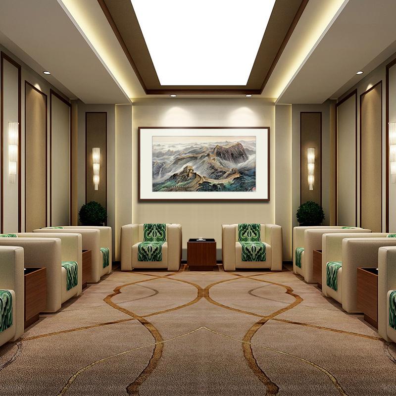 橙舍 办公室挂画客厅装饰画 中式画国画风景 名家字画