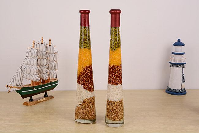 佳朵 高瓶五谷杂粮工艺摆件油瓶创意家居装饰五谷丰登图片