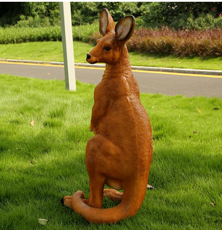 腾彩树脂工艺品户外园林景观小品庭院装饰动物雕塑摆件仿真大袋鼠摆设
