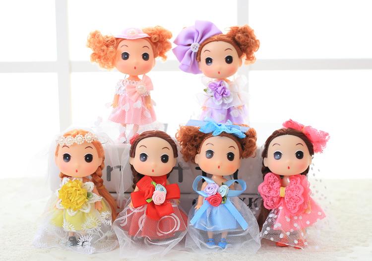 可爱娃娃芭比娃娃迷糊娃娃礼盒套装生日六一儿童节礼物女孩女生 玫红