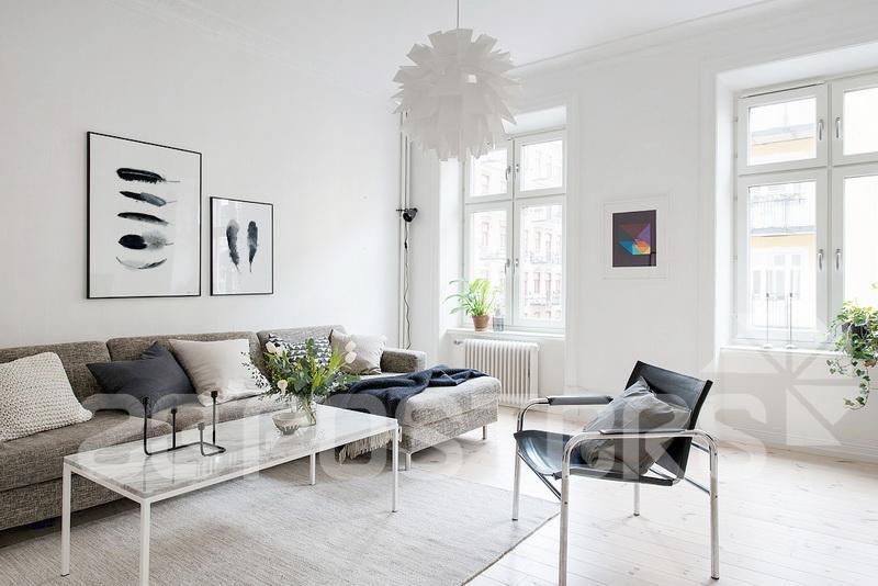 北欧风格餐厅装饰画现代简约水彩创意设计卧室图片