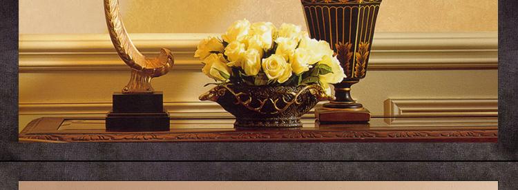 东南亚风格装饰画 客厅餐厅挂画 玄关走廊壁画纯手工手绘拼贴油画