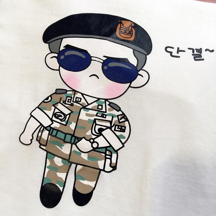 韩范白色显瘦宋仲基卡通图案印花t恤女学生短袖