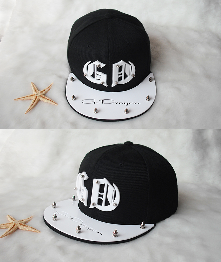韩版潮exo权志龙同款gd字母标志亚克力嘻哈帽男女