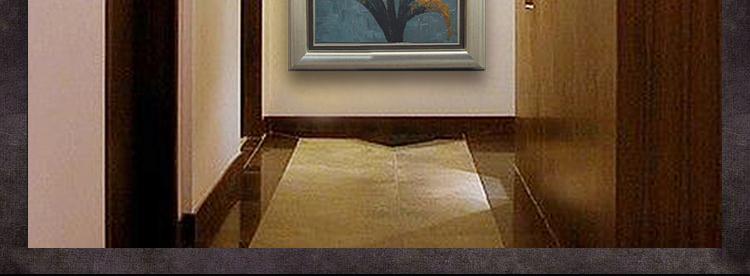 玄关装饰画现代简约风格有框手绘油画 门厅墙面挂画 走廊立体墙饰