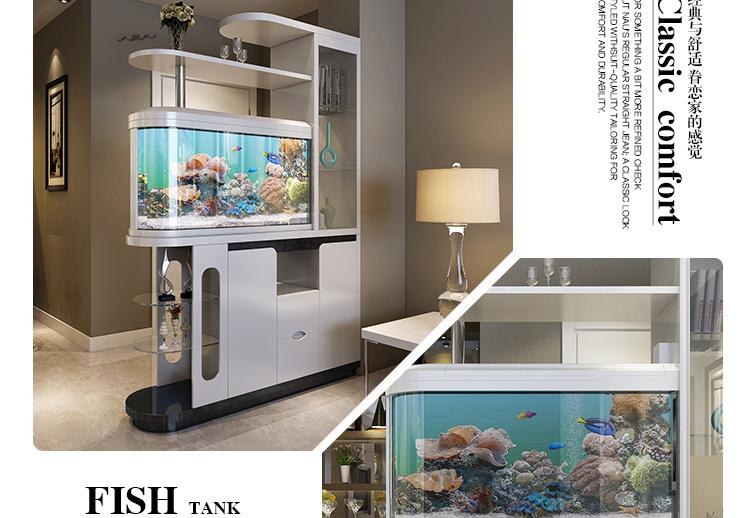 客厅鱼缸隔断柜