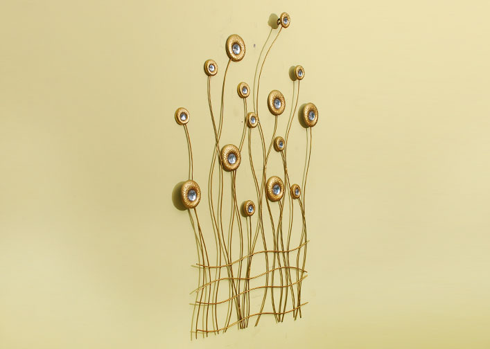 欧式创意铁艺壁饰壁挂栅栏花家居客厅背景墙面装饰品
