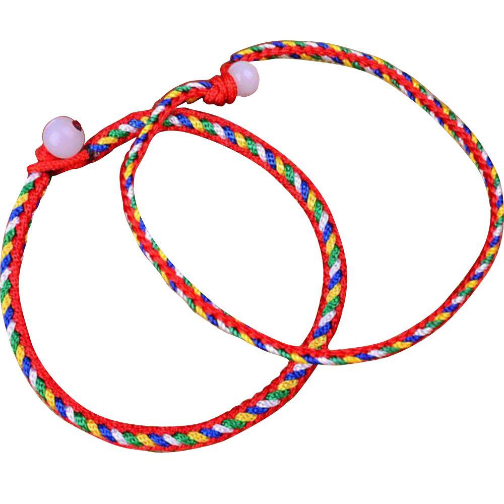 安乐因 端午节编织手链项链脚链手工线材五色线五色绳五彩线彩色挂件