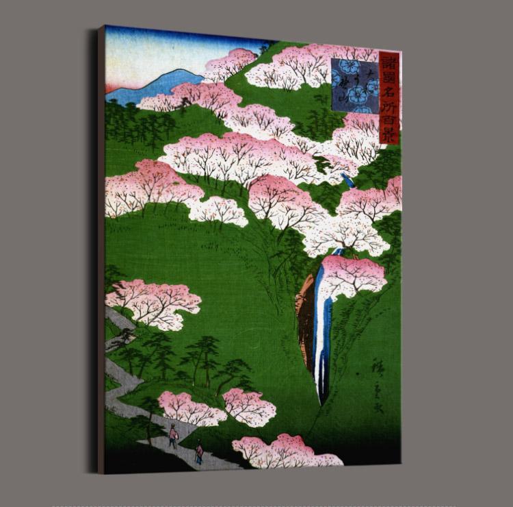 日本画家歌川广重和风风景日式餐厅大海边浮世绘装饰