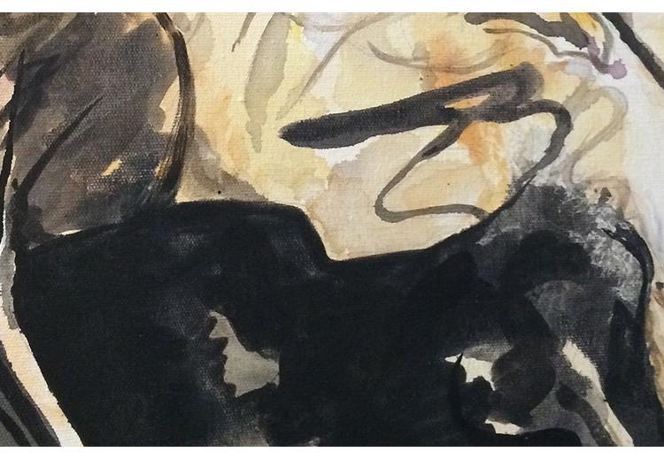 梦彩阁定制画 纯手绘油画人物印象画 客厅背景墙复古装饰画挂画 爵士