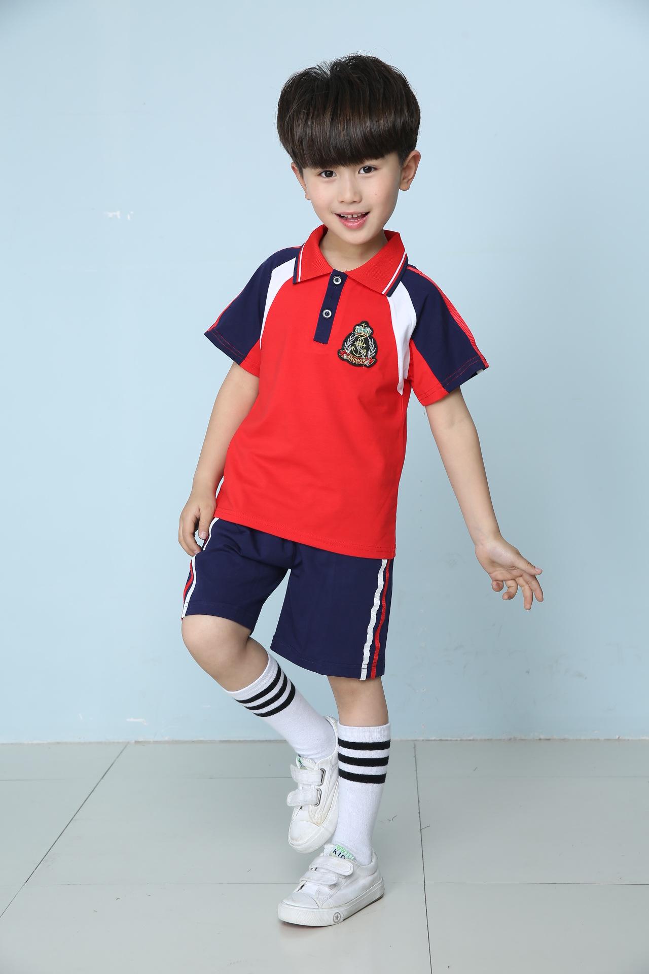 夏季套装2016新款幼儿园园服小学校服班服 男生 160码适合150cm身高