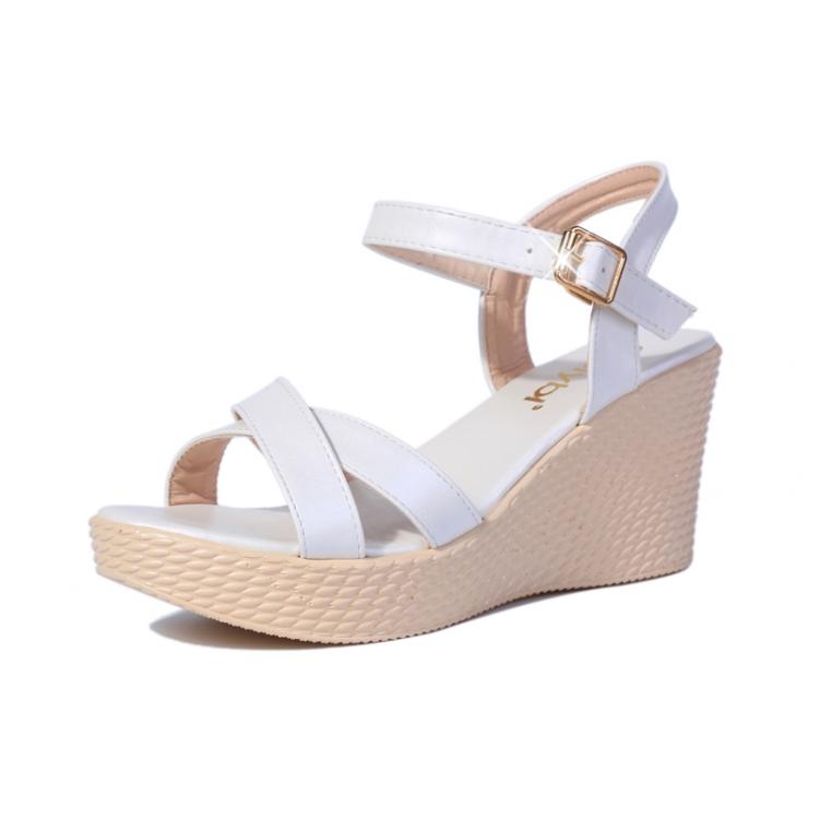 凉鞋松糕鞋罗马女鞋