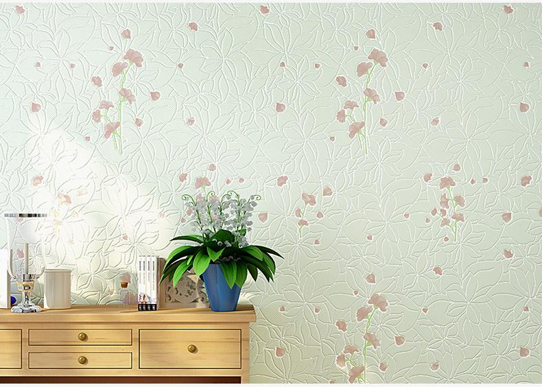 【icidulux】无纺布小清新壁纸3d无纺布素色田园风格电视背景墙纸