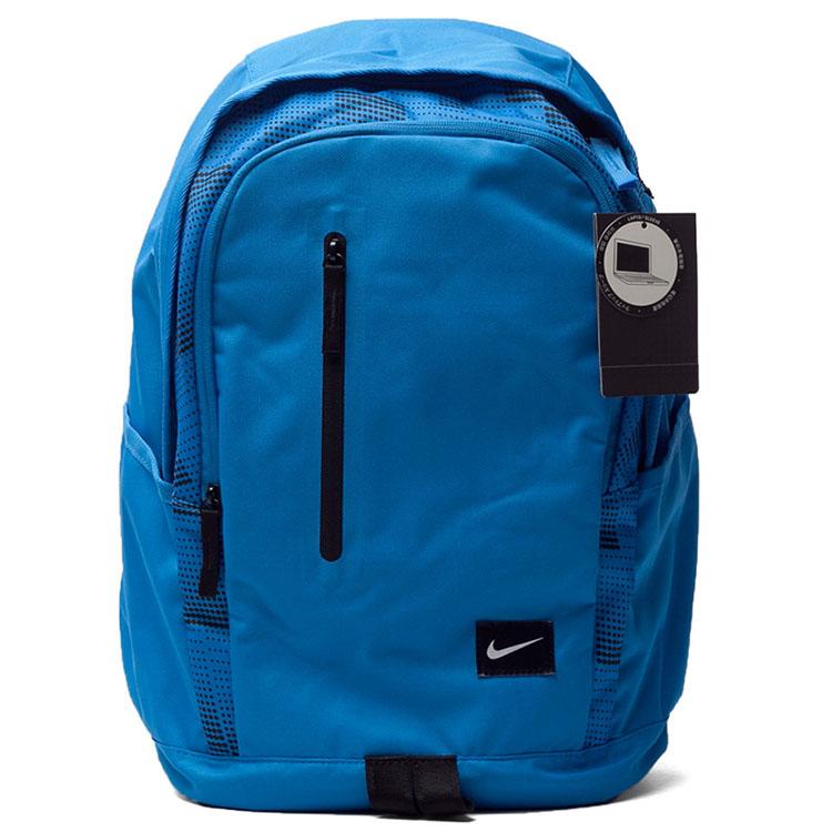 耐克nike男包2016春新款运动休闲双肩包背包书包ba4857-610 蓝色ba图片