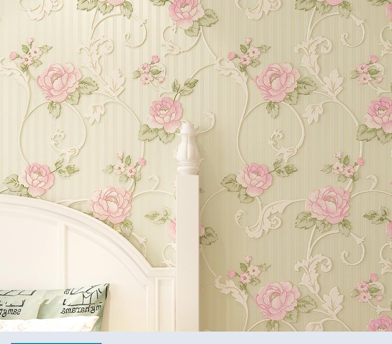 格罗斯曼 3d立体植绒壁纸 温馨素雅卧室客厅电视背景墙纸 100601淡