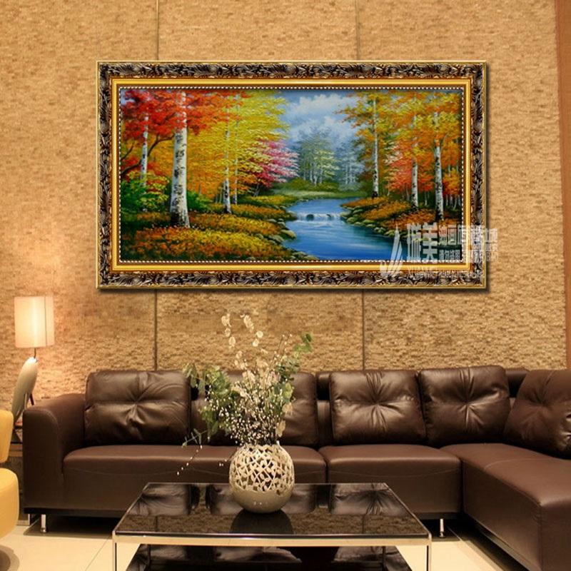 璇美手绘油画欧式现代中式饰品挂画客厅餐厅大厅沙发背景书房壁画抽象