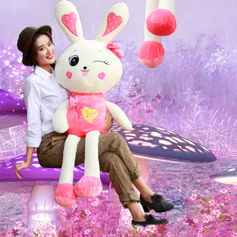 紫色萌萌哒兔子 卡通