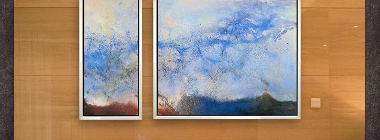 油画纯手绘临摹赵无极抽象现代装饰画客厅走廊高档壁画样板房挂画