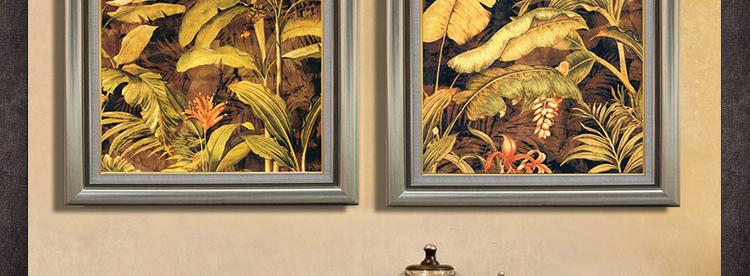 东南亚风格装饰画 客厅玄关走廊壁画 餐厅挂画 卧室墙面饰品 a款 50*